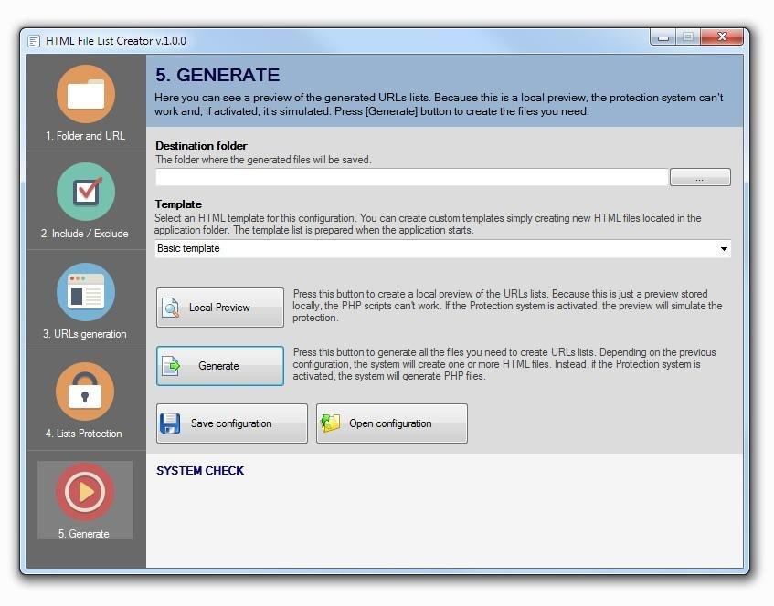 HTML File List Creator download   SourceForge net