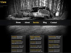 "HTML5 editor - ""Old Cars"" Theme"