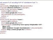 Example XML file of logged http actions