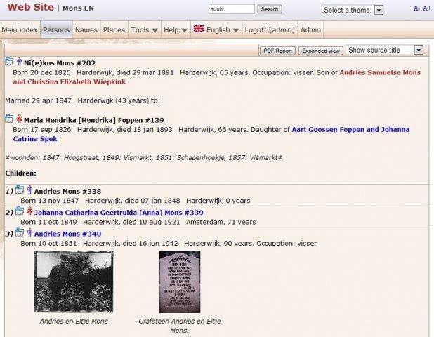 HuMo-gen genealogy software download | SourceForge net