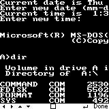 i86 running MS-DOS 3.30