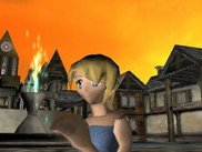 This is the town area of the 3d game example program