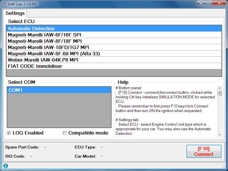 IAW Scan full screenshot