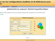 Admin the attributes of a component of a configuration