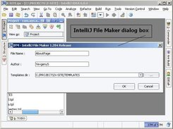 IntelliJ File Maker dialog box