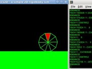simple 2D rigidbody simulator written in C