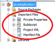 NetBeans Project View of a JavaSE Project after installing the plugin