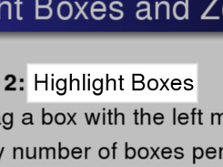 highlight boxes