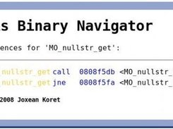 OpenDis Binary Navigator showing cross references for a proc