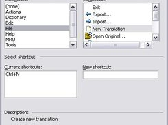 The configure keyboard dialog