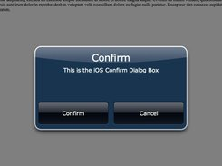 jQuery iOS Dialog Box Plugin download | SourceForge net