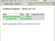 IrieMon generated report in Firefox