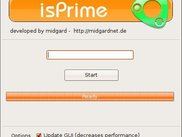The main interface of isPrime
