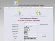 Admin Panel - Configurations and Users & Groups