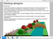 Screenshot of planting designer IWB file, adapted from NLN