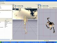 Multi view with loaded articulated model and texture