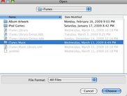 The select directory UI (Mac OSX)