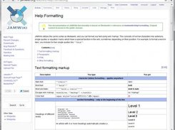 Viewing a topic page with JAMWiki