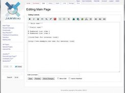 Editing a topic page with JAMWiki