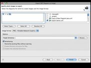 Export Images of Diagram Files wizard dialog box