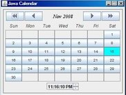 Calendar displaying only Time