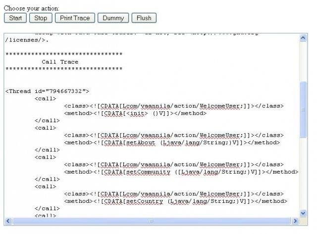 Java call trace to uml sequence diagram download sourceforge the web component calltracerweb ccuart Gallery