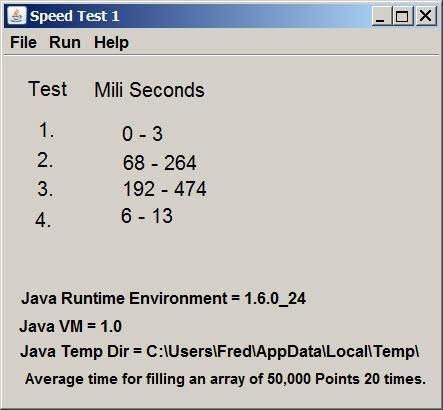 Java speed test app
