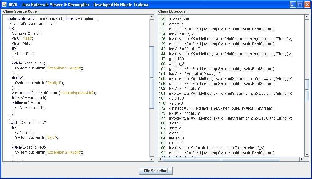JBVD - Java Bytecode Viewer & Decompiler download | SourceForge net