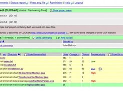 2.Project page - shows notes, files, project comment threads