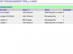 1. Main page - select a project to review or administer