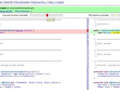 3. File page - showing side-by-side diff, comment/diff bars