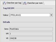 Search on Pixel Data tag (Windows XP - French)