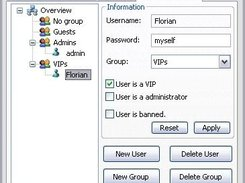 Group/User administration.