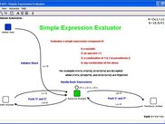 A PDA representing a simple expression evaluator