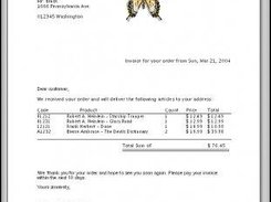 5. Invoices (with a WMF-butterfly)