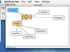 JHotDaw 7 Net sample application with Mac OS X interface