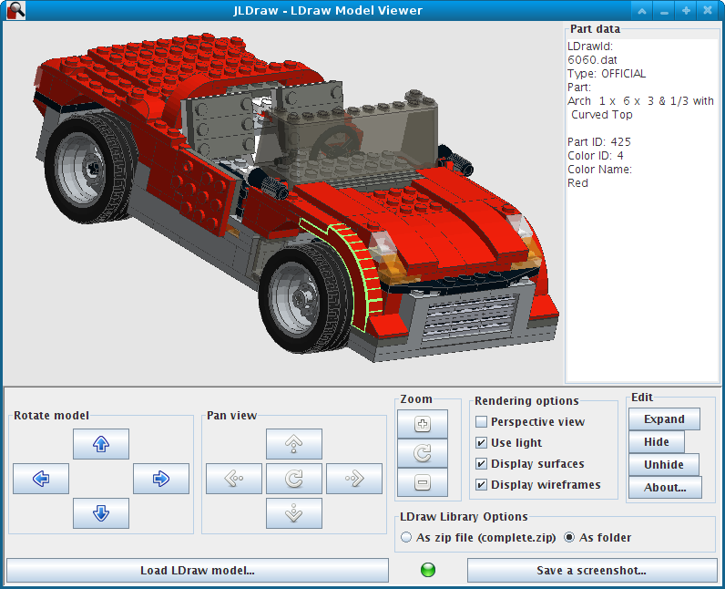 Software] JLDraw - simple LDraw model viewer in Java/OpenGL - LEGO