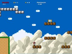 Mario at the third level of the game.