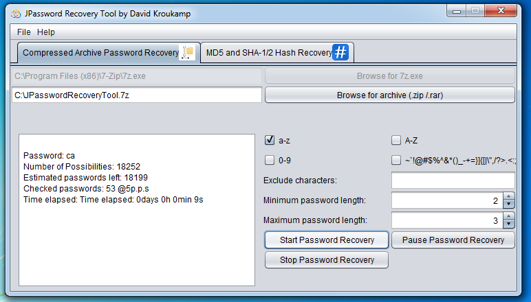 JPassword Recovery Tool download   SourceForge net