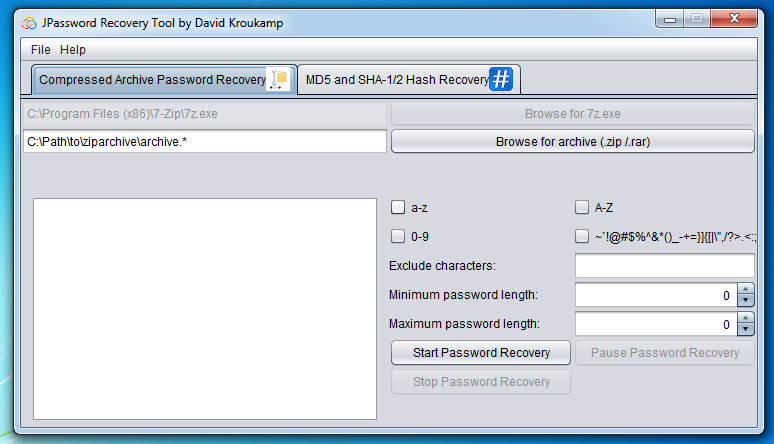 JPassword Recovery Tool download | SourceForge net
