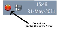 Pomodoro on Windows tray