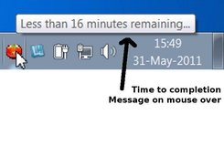 Time to completion - Message on mouse over