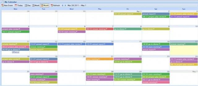 Wdcalendar Jquery Ajax Event Calendar Download | Sourceforge.Net