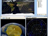 3D view with terrain profile and tracking polar plot from Me