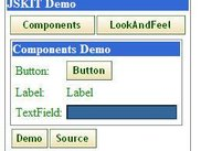 Sample interface created with JSKIT
