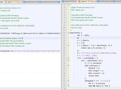 Compare original jquery.min.js and formatted code