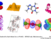 HTML5-only JSmol capabilities include surfaces, crystallographic rendering, molecular orbitals, translucency, and virtually all of the capabilities of Jmol/Java.
