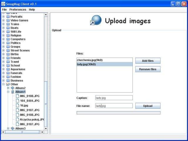 JSmugMug Client - java client to smugmug download