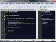 Pseudocode and Java code generate by the app.