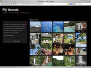 Album view: Thumbnails and description
